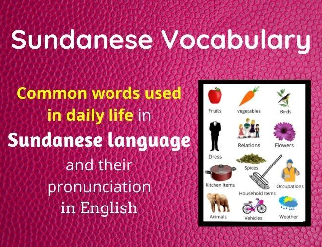 Sundanese vocabulary