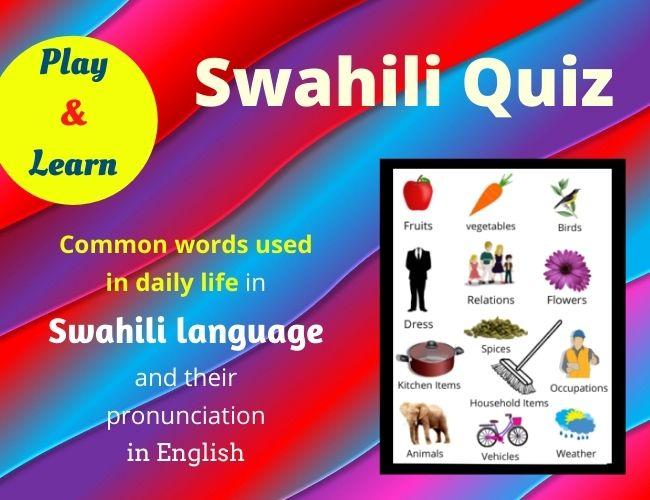 Swahili quiz