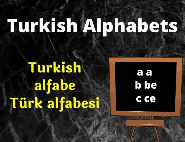 Turkish alphabet