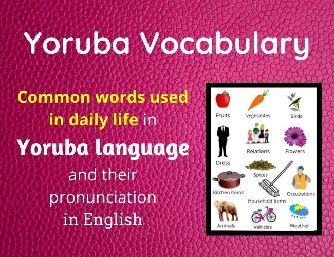 Yoruba vocabulary