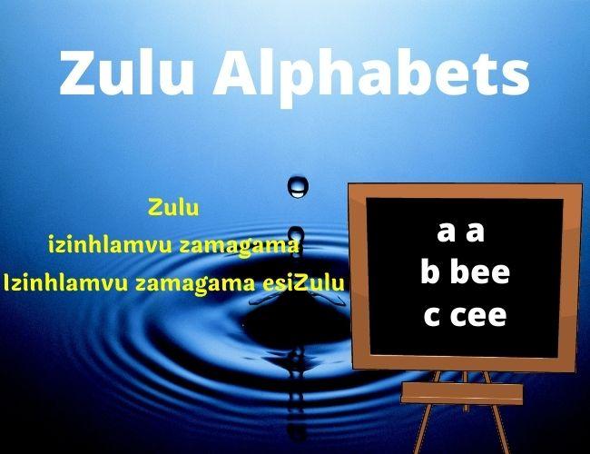 Zulu alphabet