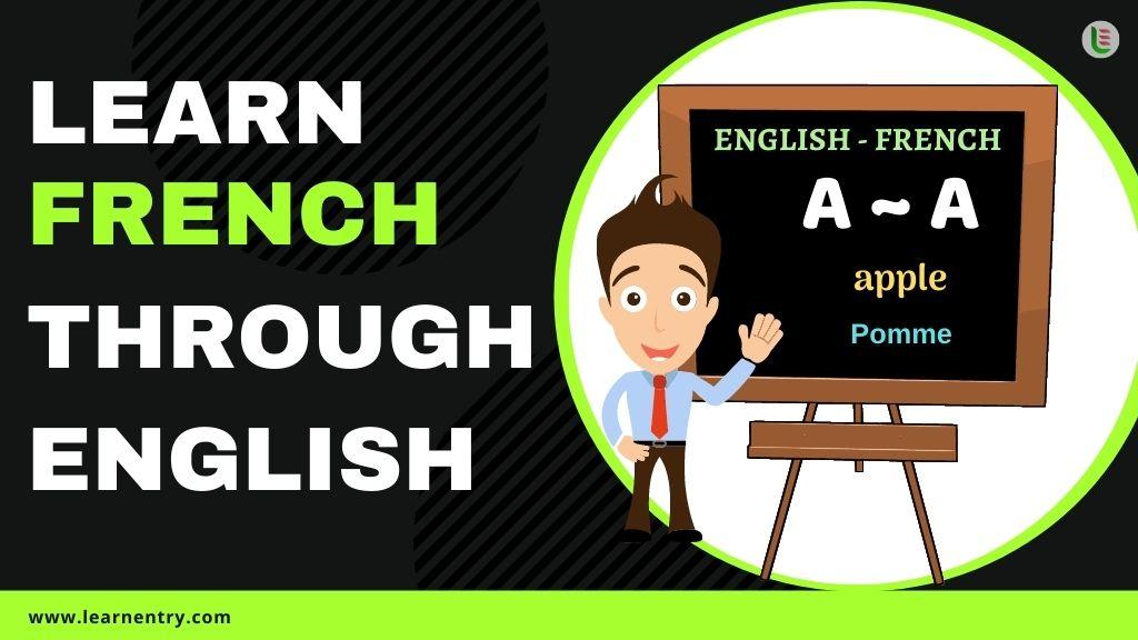 learn French through english