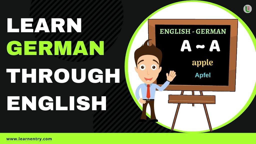 learn German through english