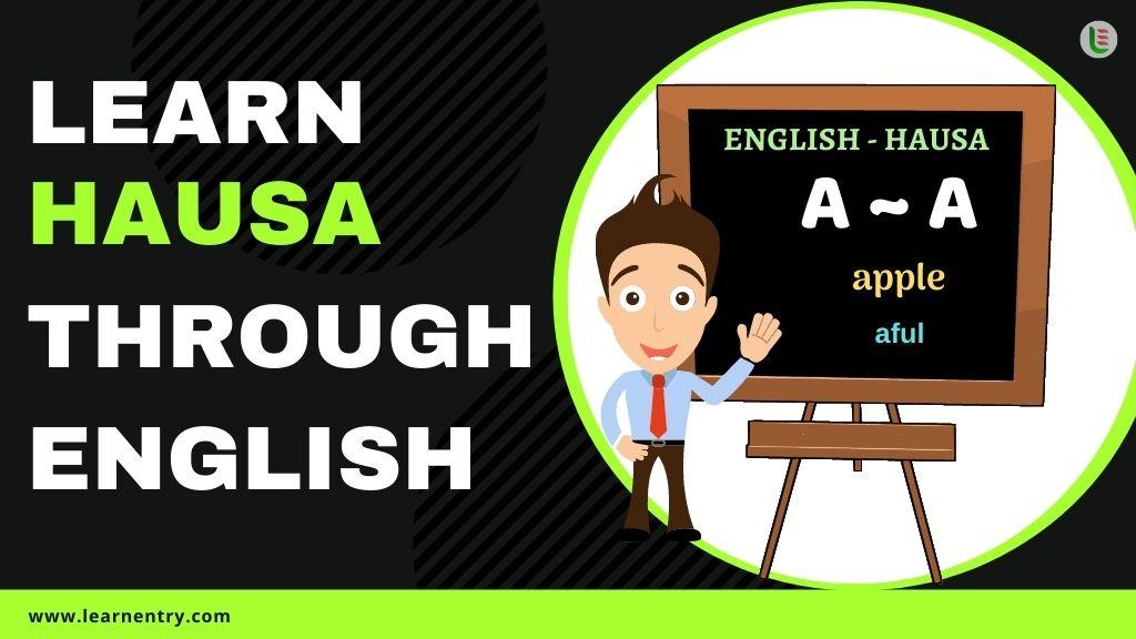learn Hausa through english