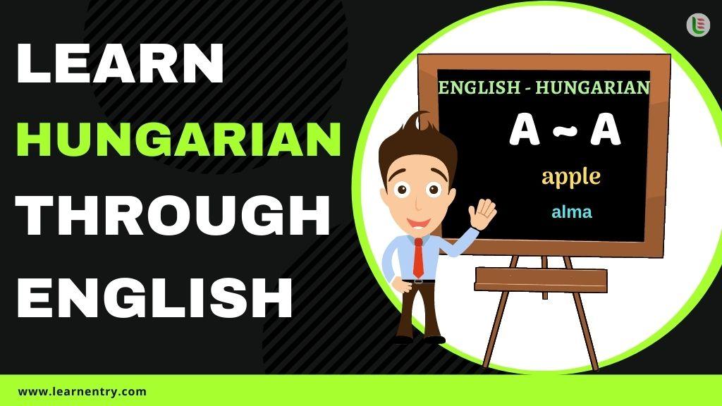 learn Hungarian through english