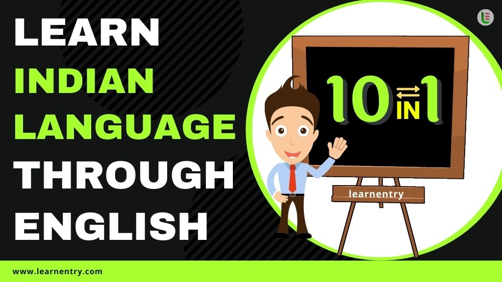 learn Indian languages through english