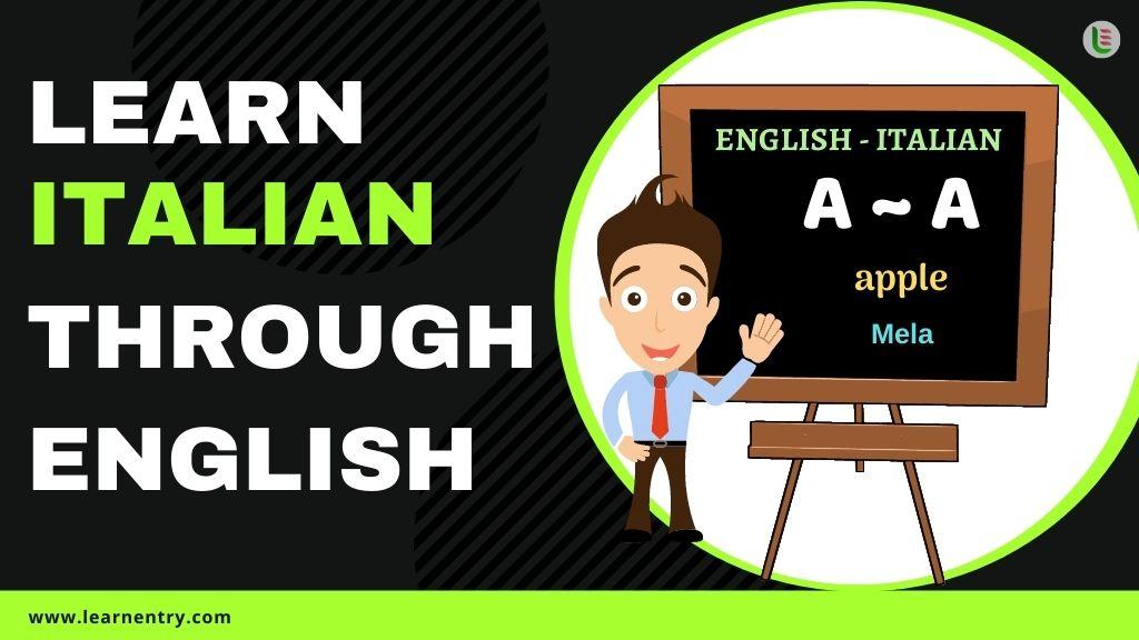 learn Italian through english