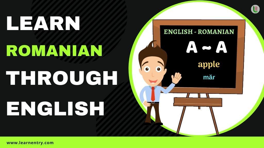 learn Romanian through english