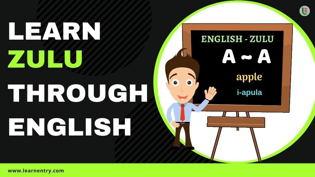 learn Zulu through english